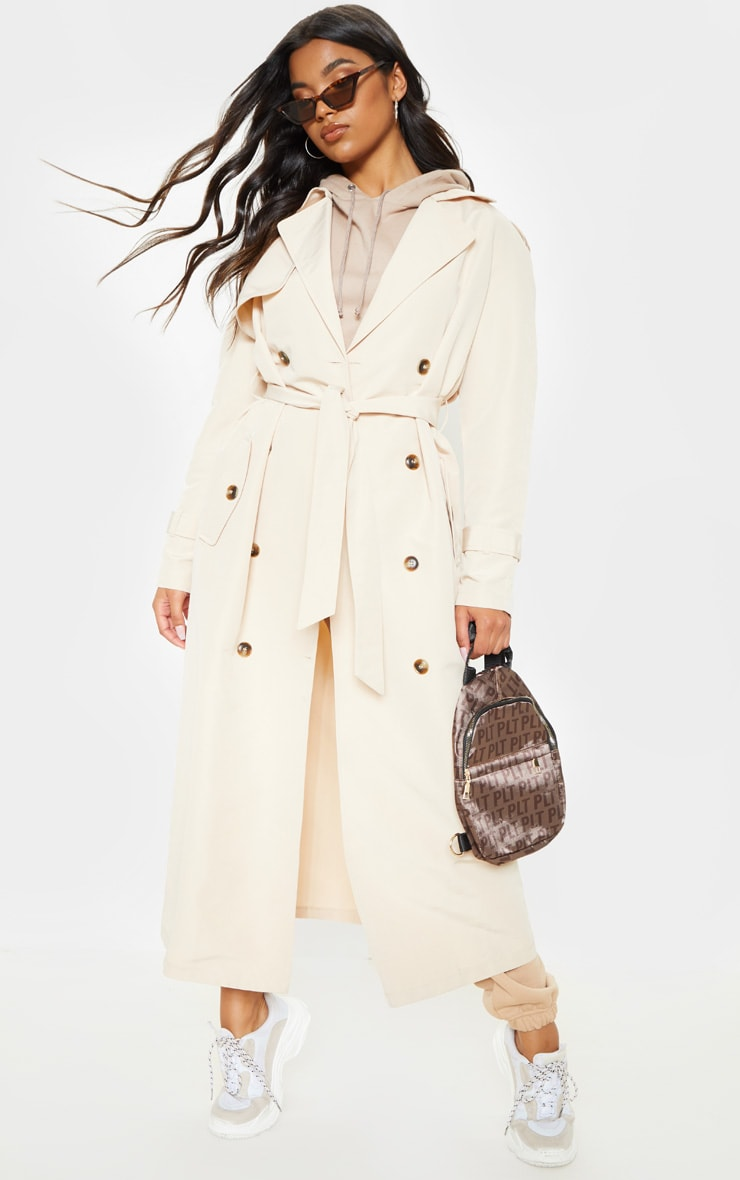 Stone Oversized Trench Coat 1