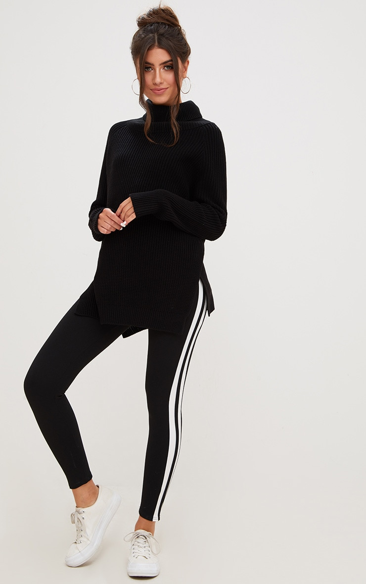 Black High Neck Jumper 4