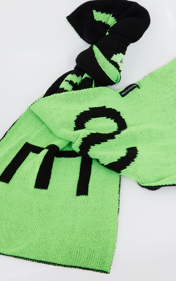 Black With Lime Savage Scarf 3