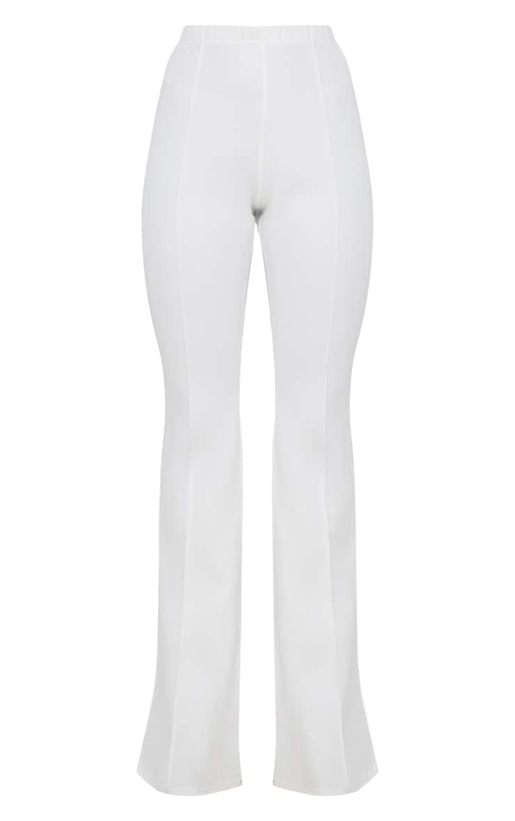 Cream High Waist Extreme Flare Long Leg Pants 3