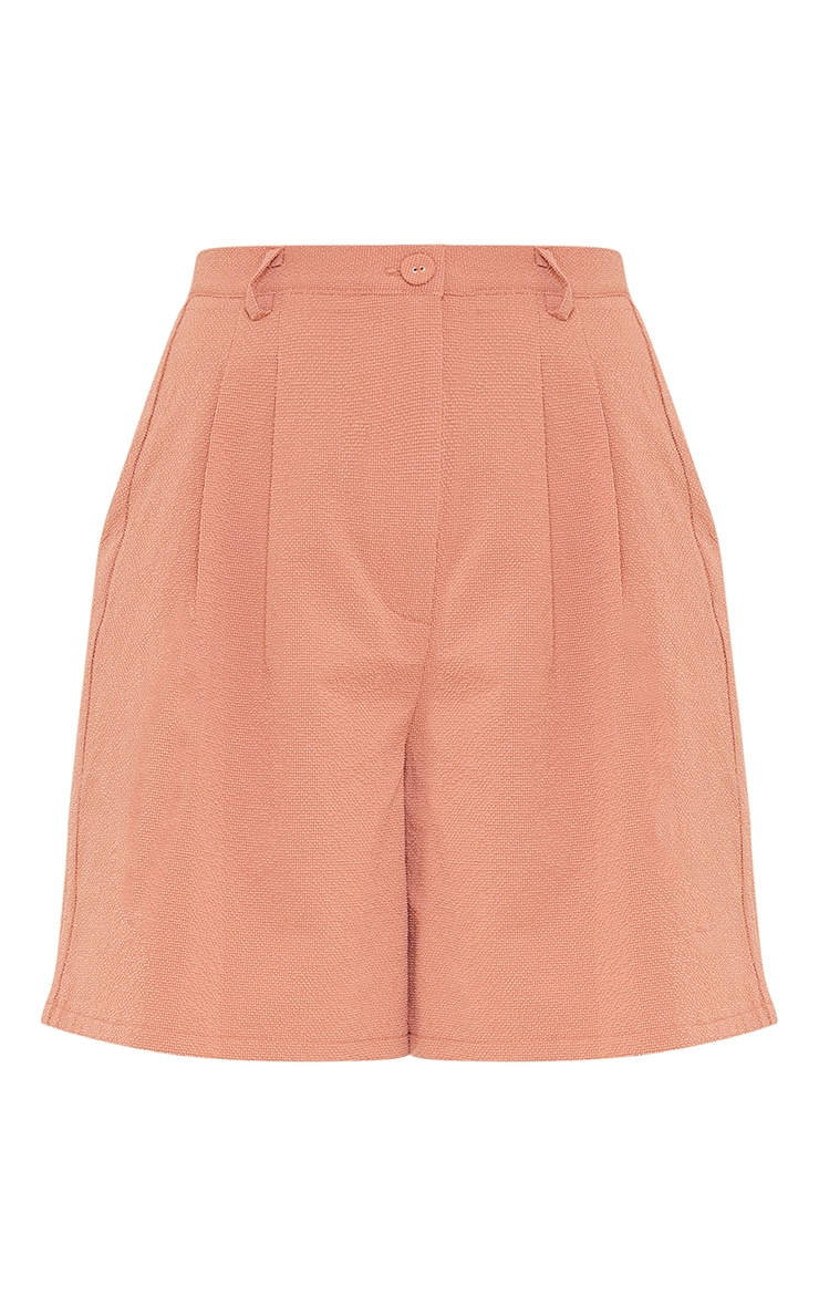 Clay Textured Woven Tailored Shorts 6