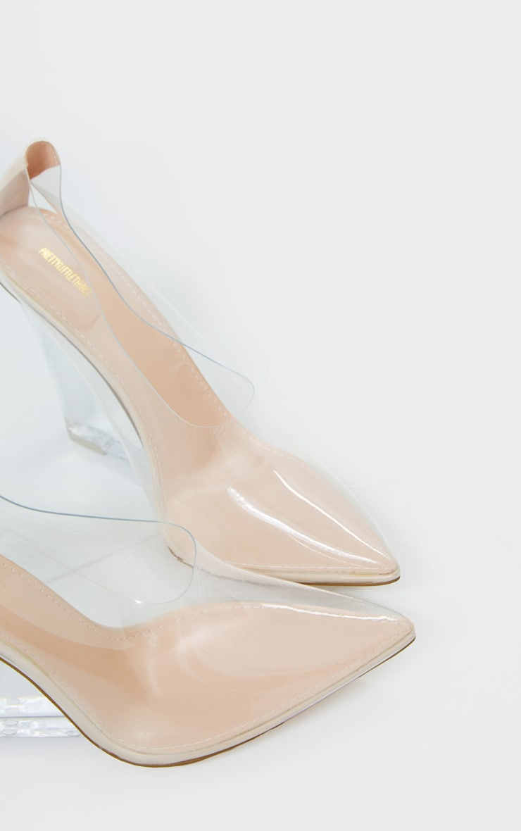 Clear Wedged Court Shoe 3