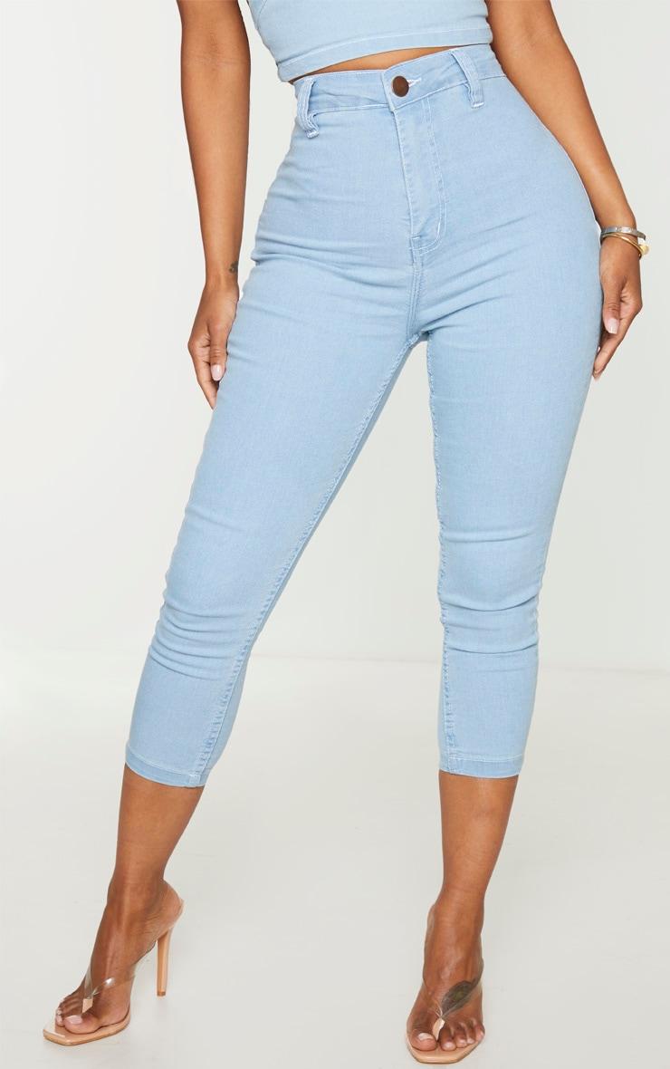 Shape Light Blue Wash High Waist Cropped Jeans 2