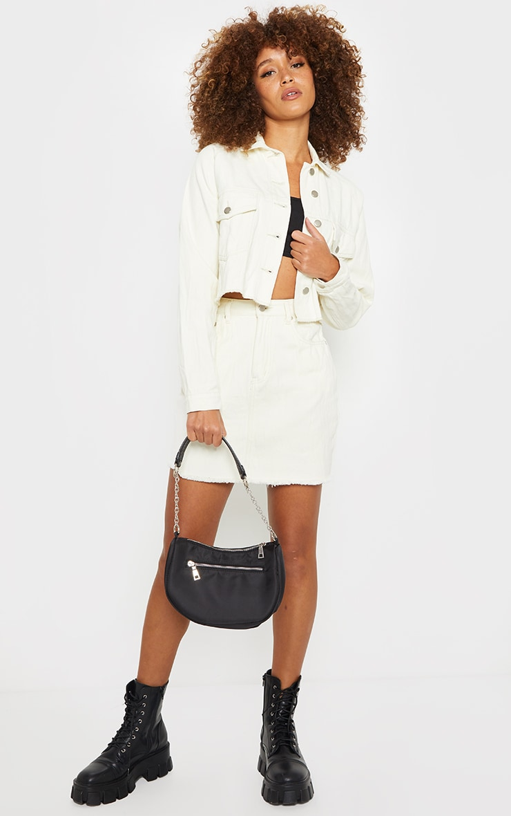 Unbleached Denim Skirt 1