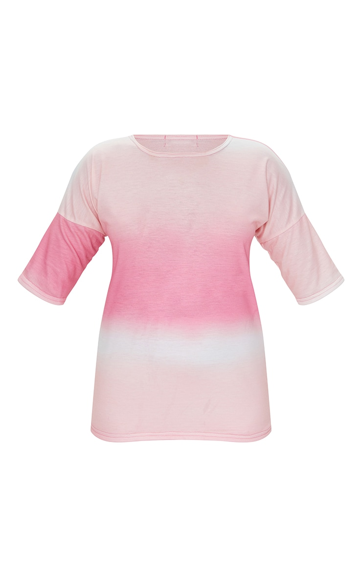 Petite Pink Ombre Oversized T-Shirt 5