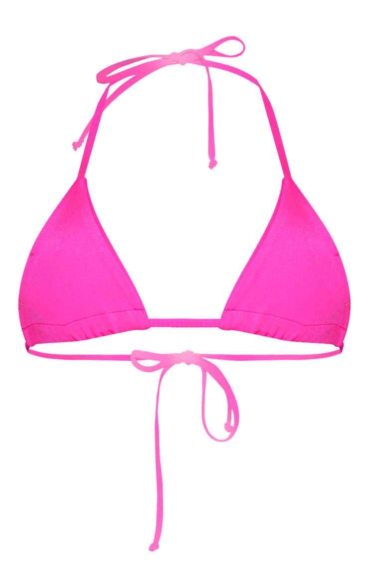 Pink Mix & Match Triangle Bikini Top 3
