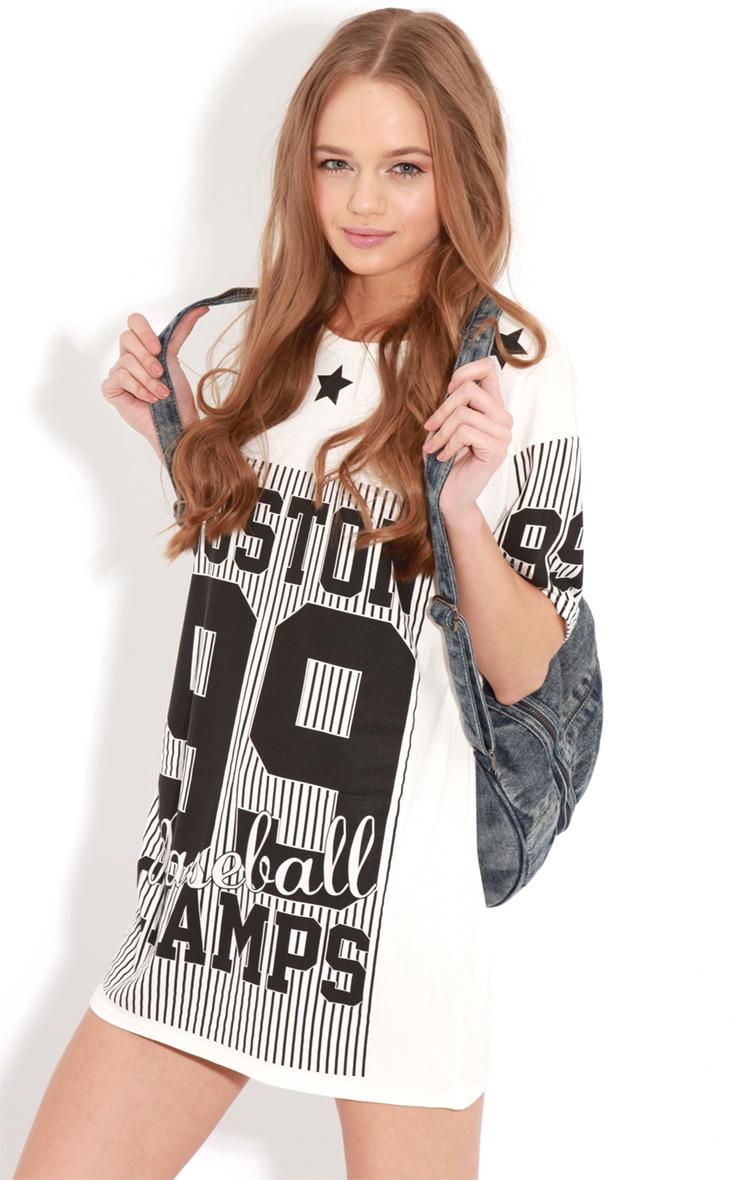 Francine White Boston Oversized T-Shirt 3