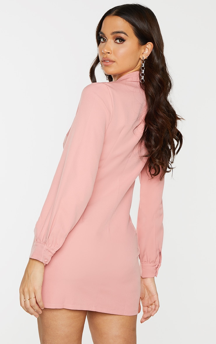 Rose Woven Double Breasted Blazer Dress 2