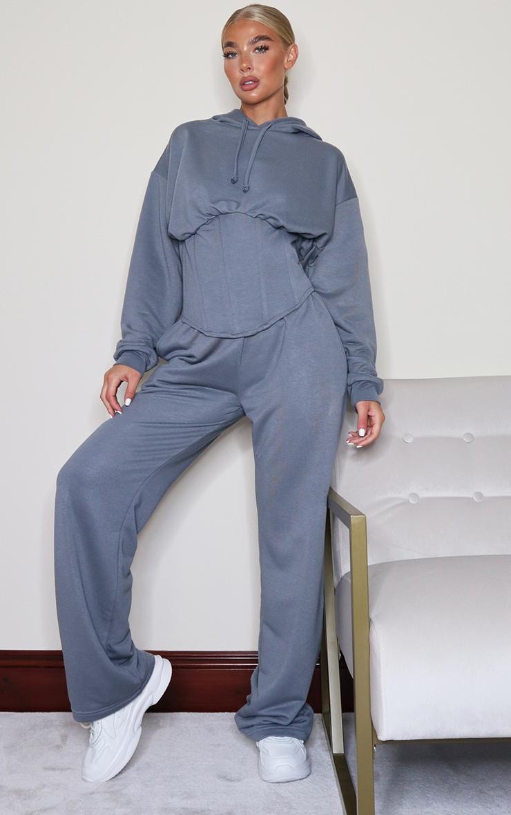 Grey Wide Leg Joggers 1