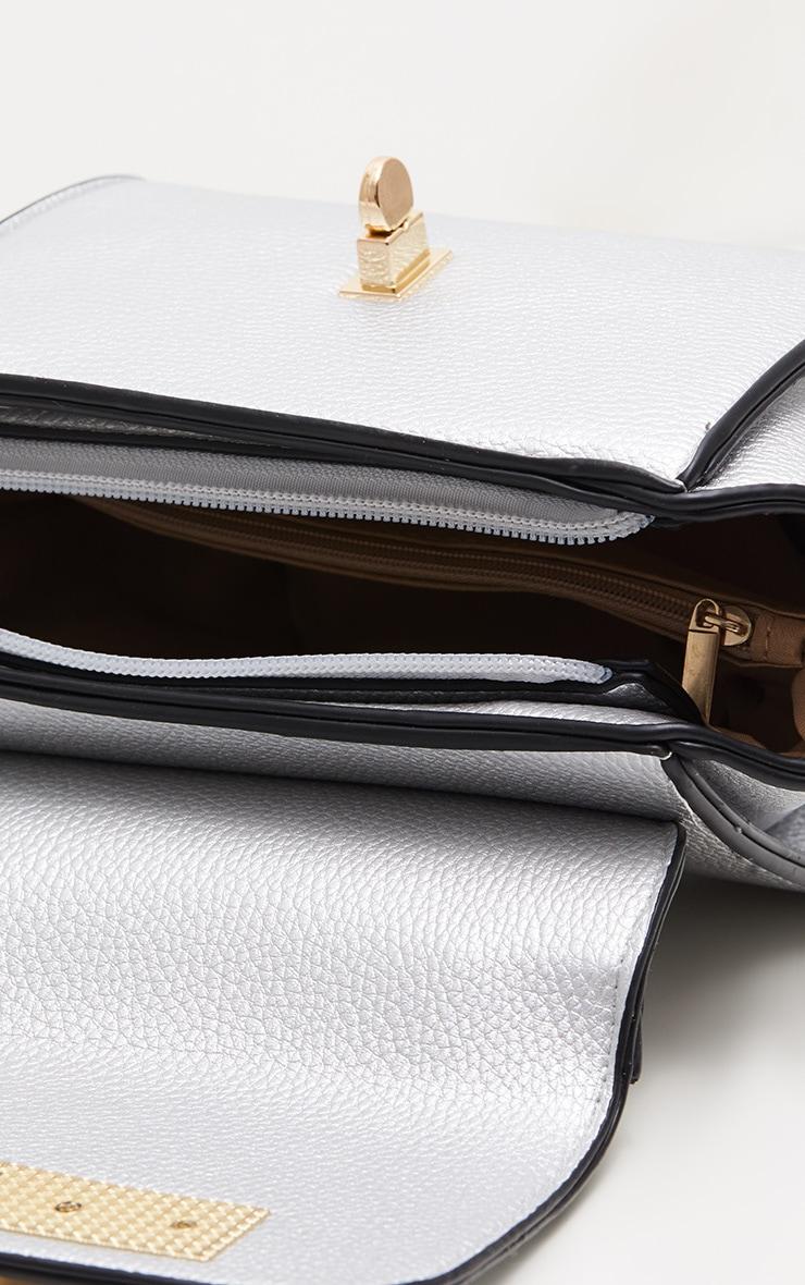 Silver Metallic Mini Handbag 4