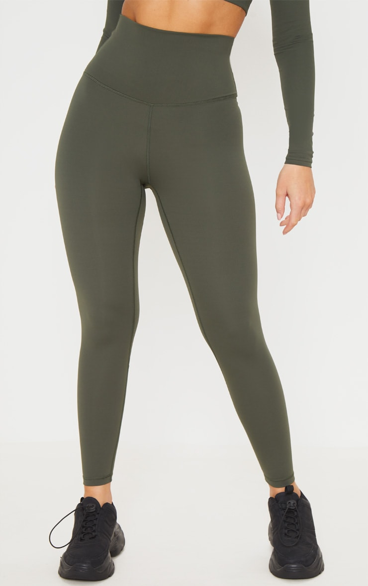 Khaki Sculpt Luxe Super High Waist Gym Leggings 2