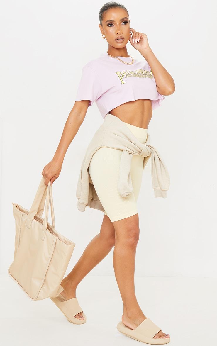 Lilac Palm Springs Crop  T Shirt 3