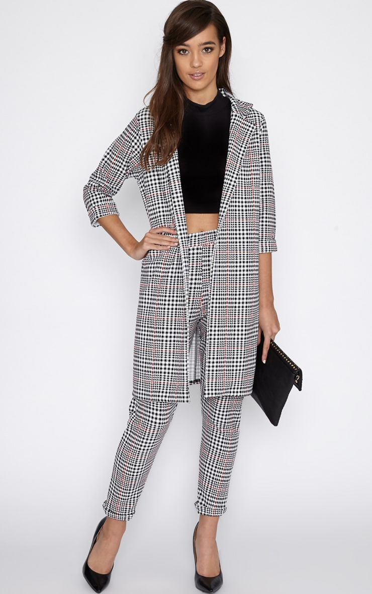 Devon Dogtooth Duster Jacket 3