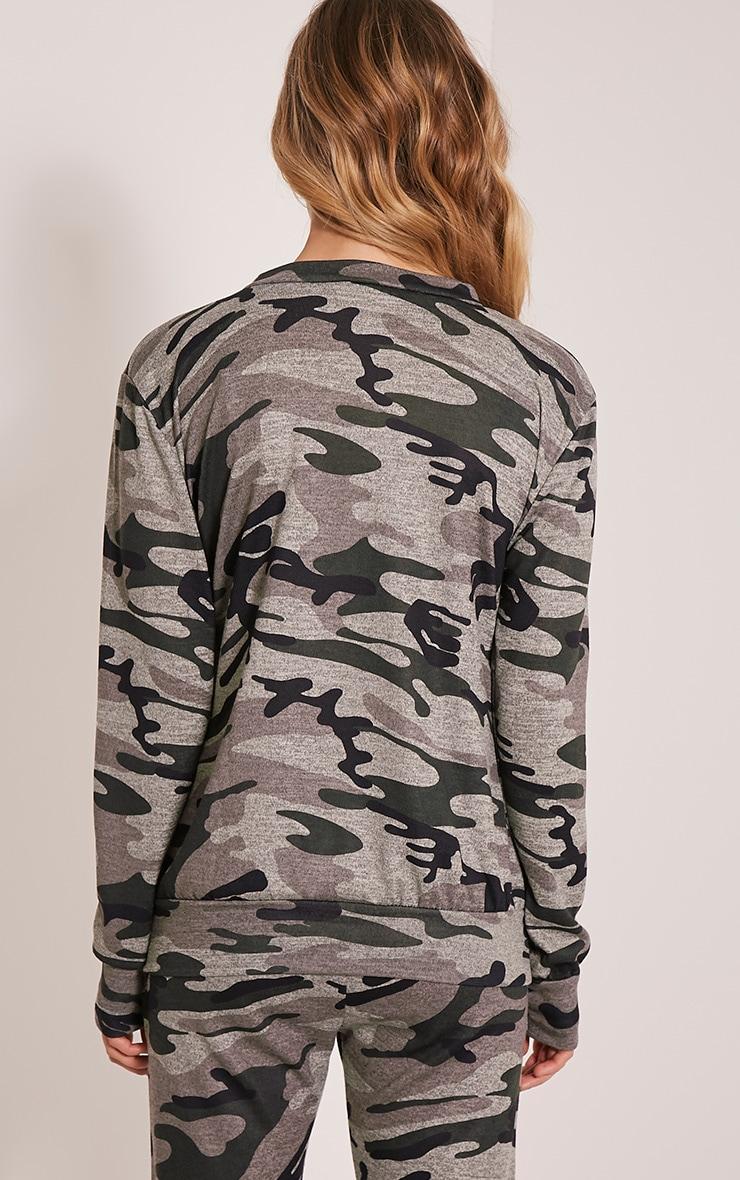 Grechin Green Camouflage Tracksuit Sweatshirt 2