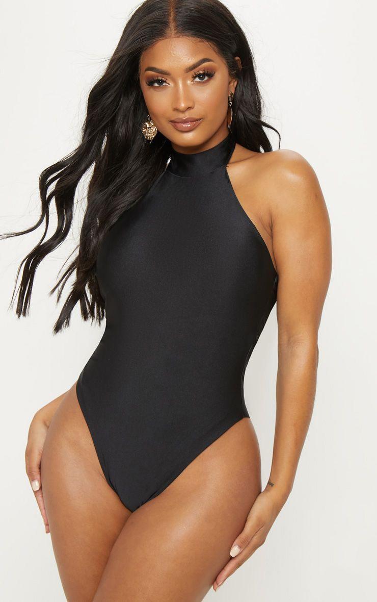 Shape Black High Neck Swimsuit 1