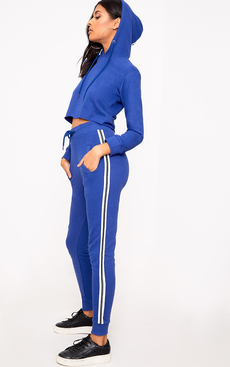 Cobalt Side Stripe Joggers 1