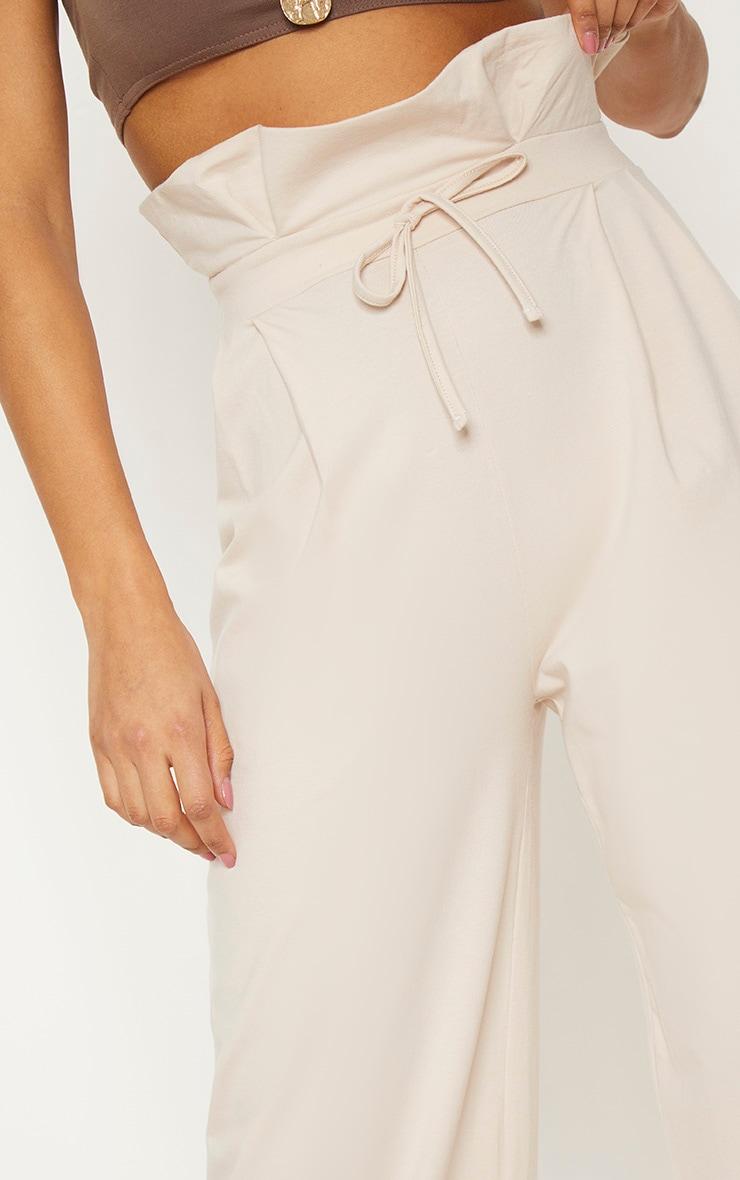 Cream Paperbag Wide Leg Trouser 5