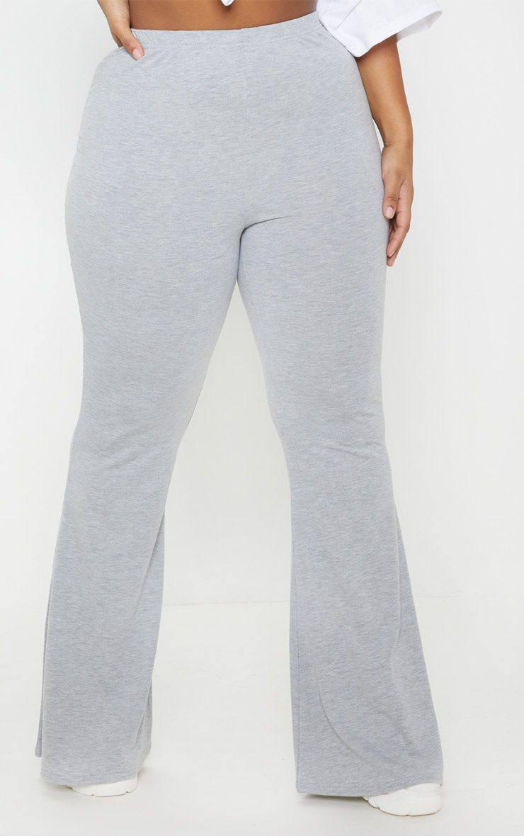 Plus Grey Basic Flared Pants 2