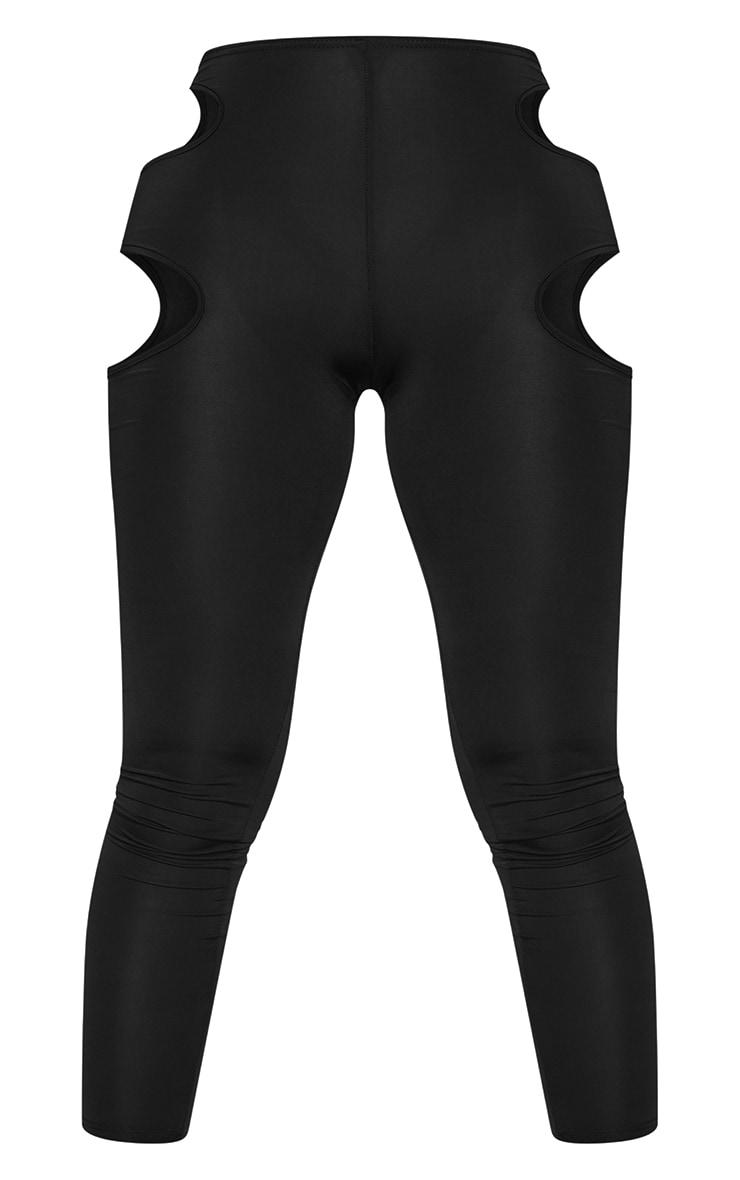 Shape Black Slinky Cut Out Side Leggings 5