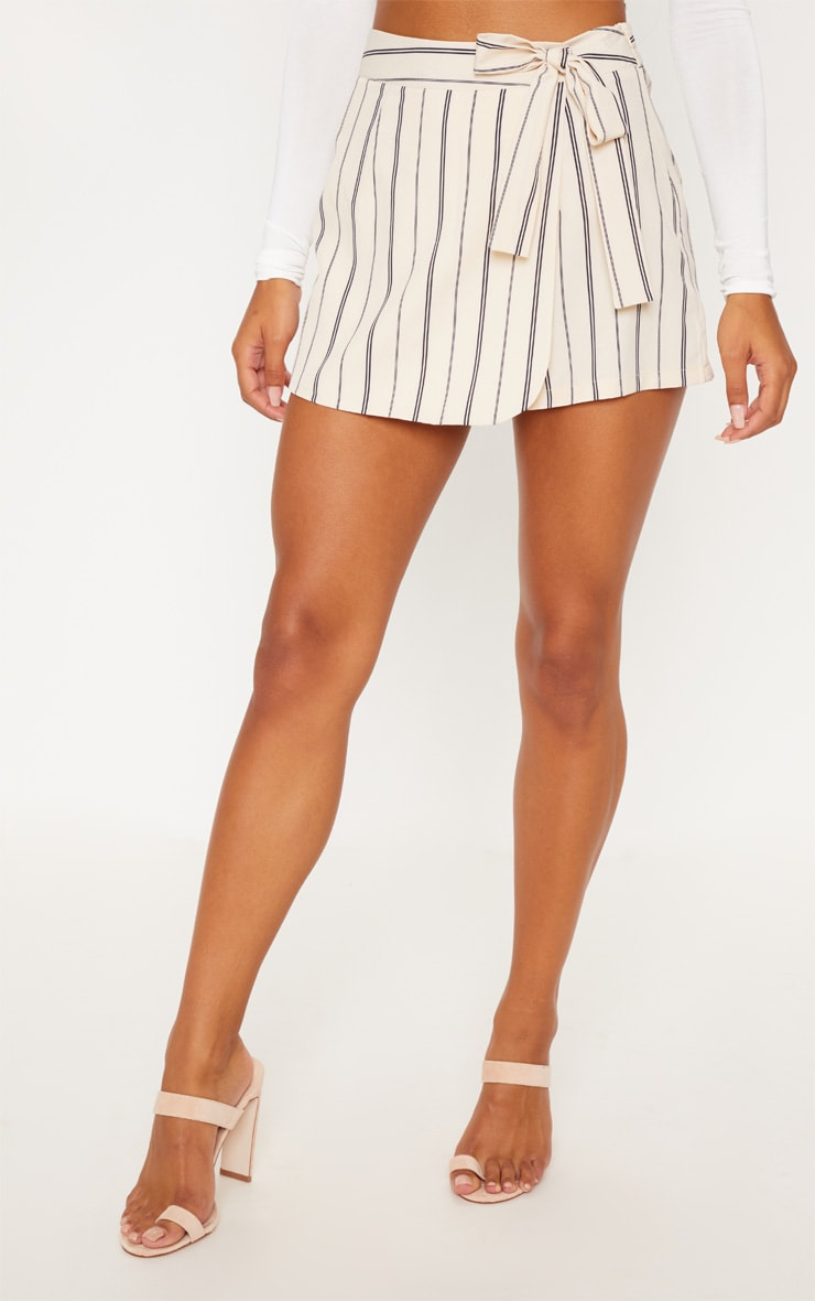 Stone Stripe Side Tie Skort 2