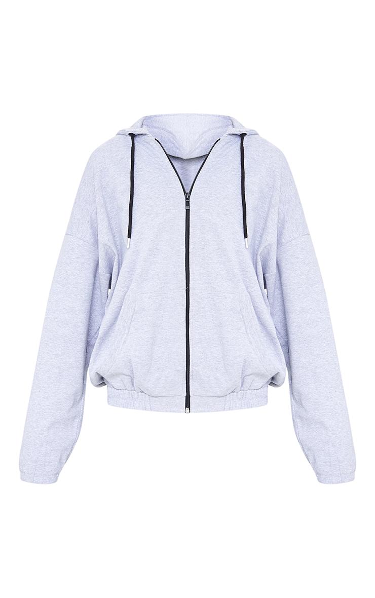 Grey Marl Oversized Pocket Hoodie 5