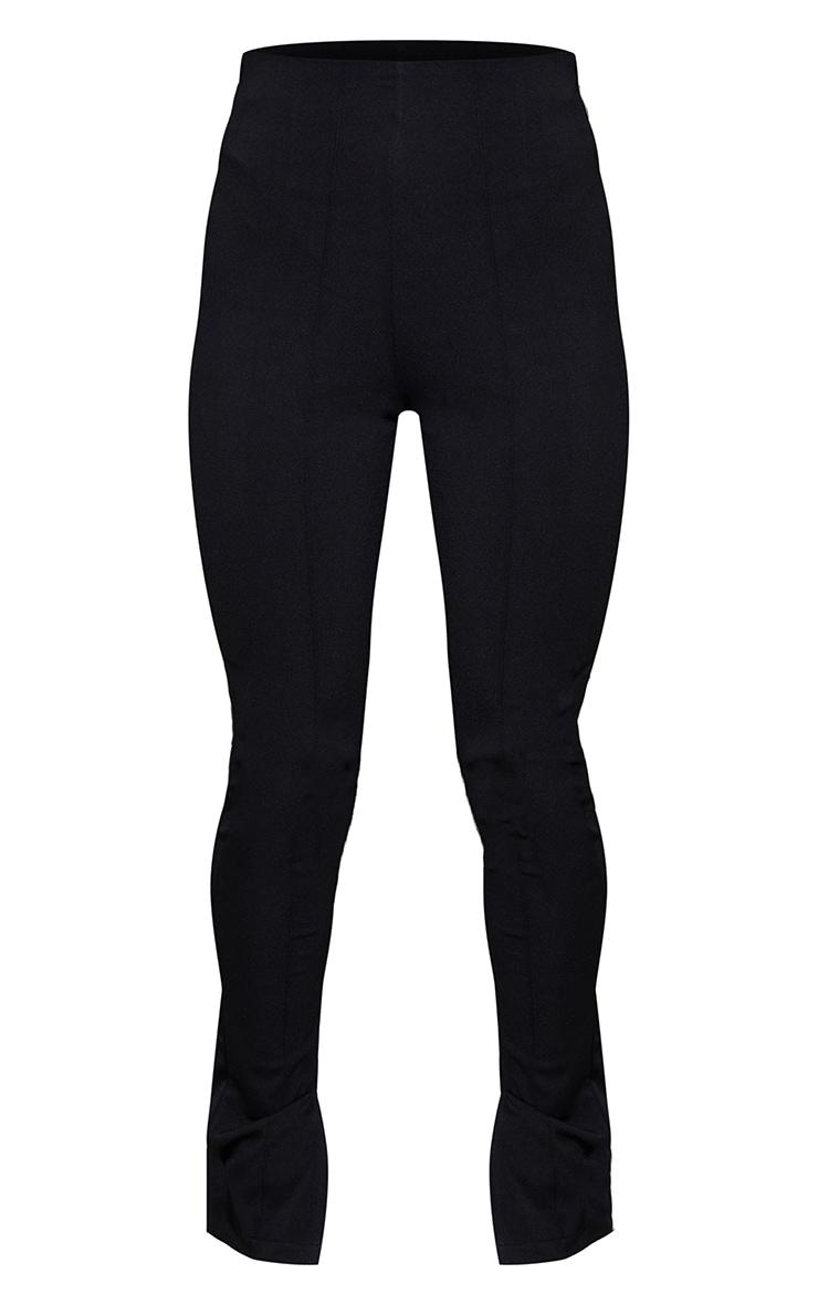 Black Stretch Detail Skinny Trousers 5