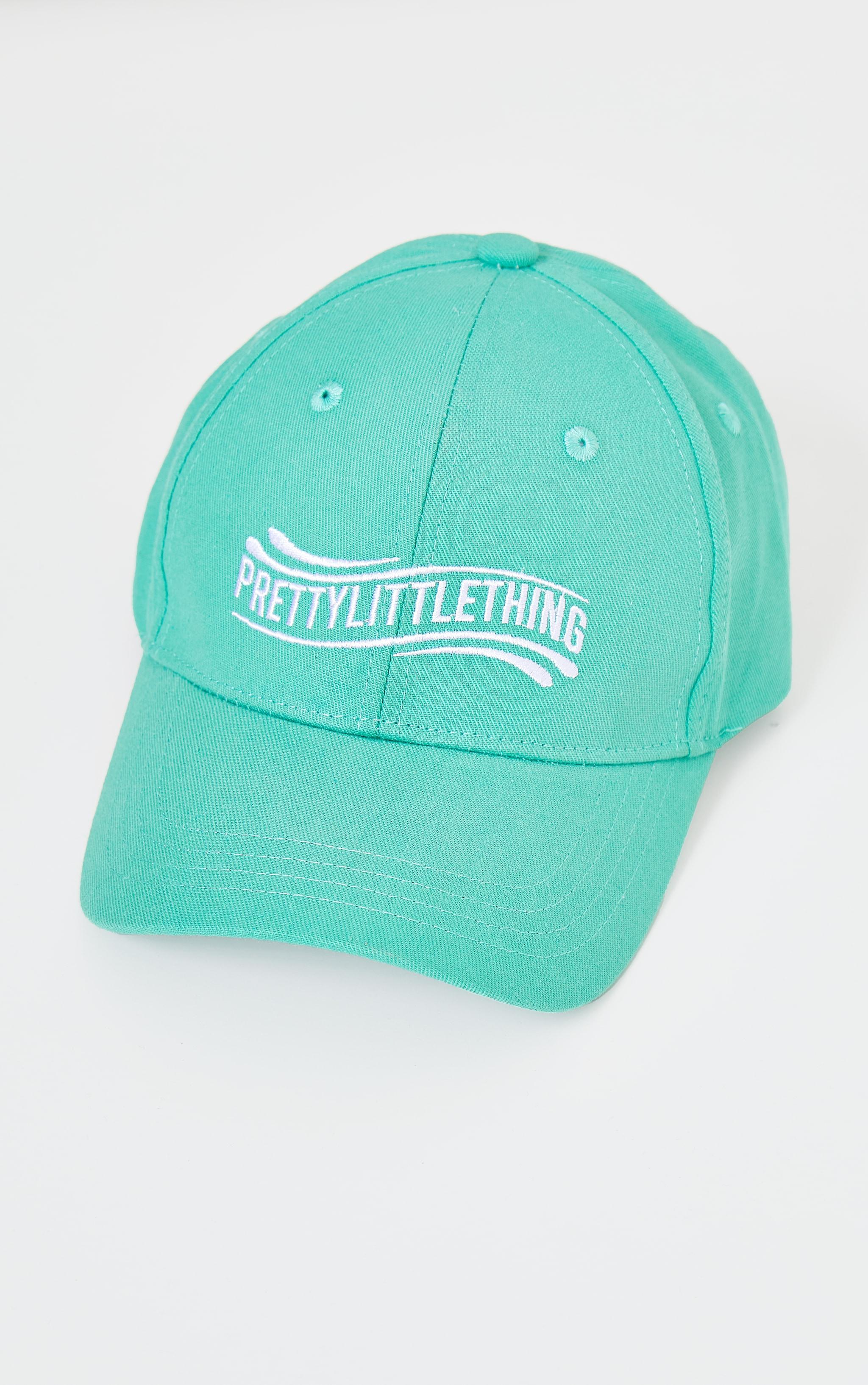 PRETTYLITTLETHING Sage Green Wave Baseball Cap 2