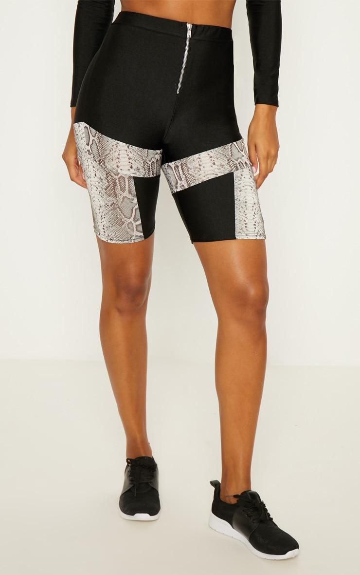 Snake Panelled Cycling Shorts 2