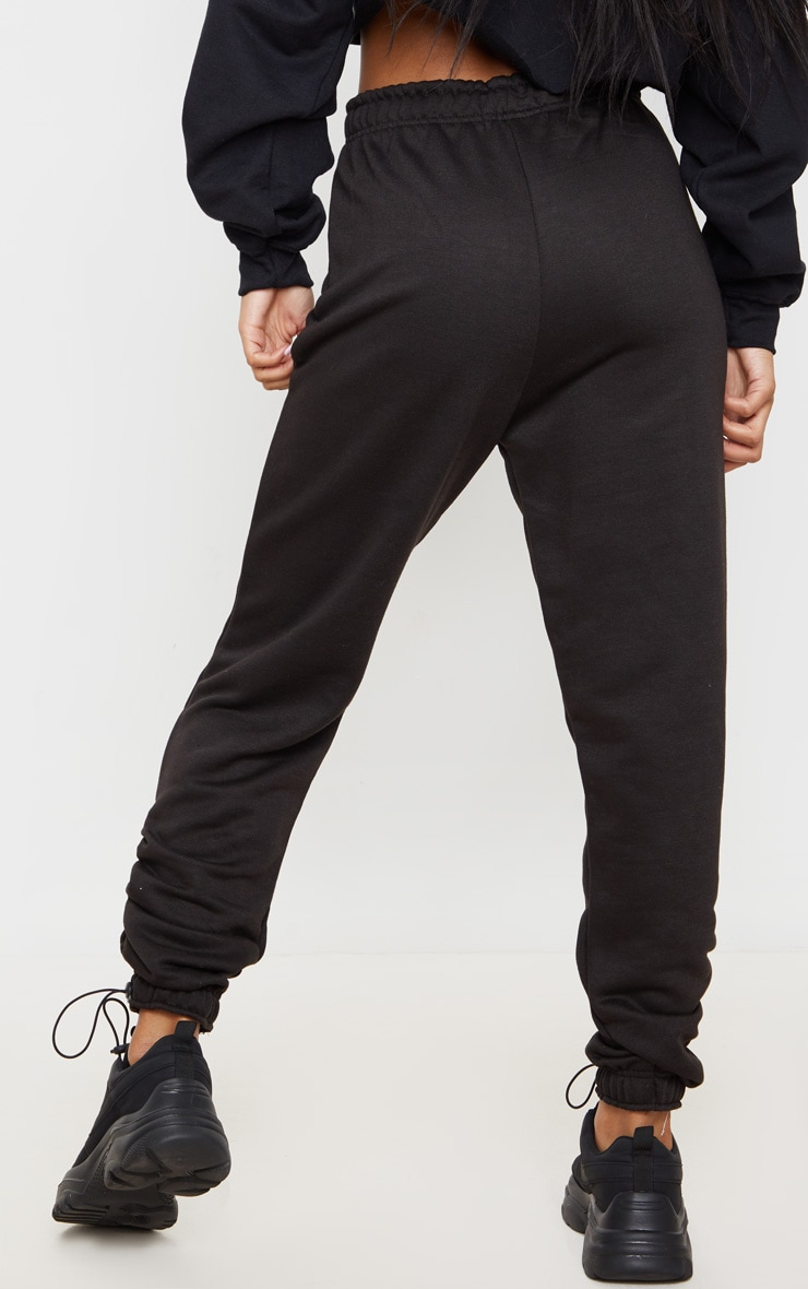 Black Toggle Detail Ruched Jogger 3