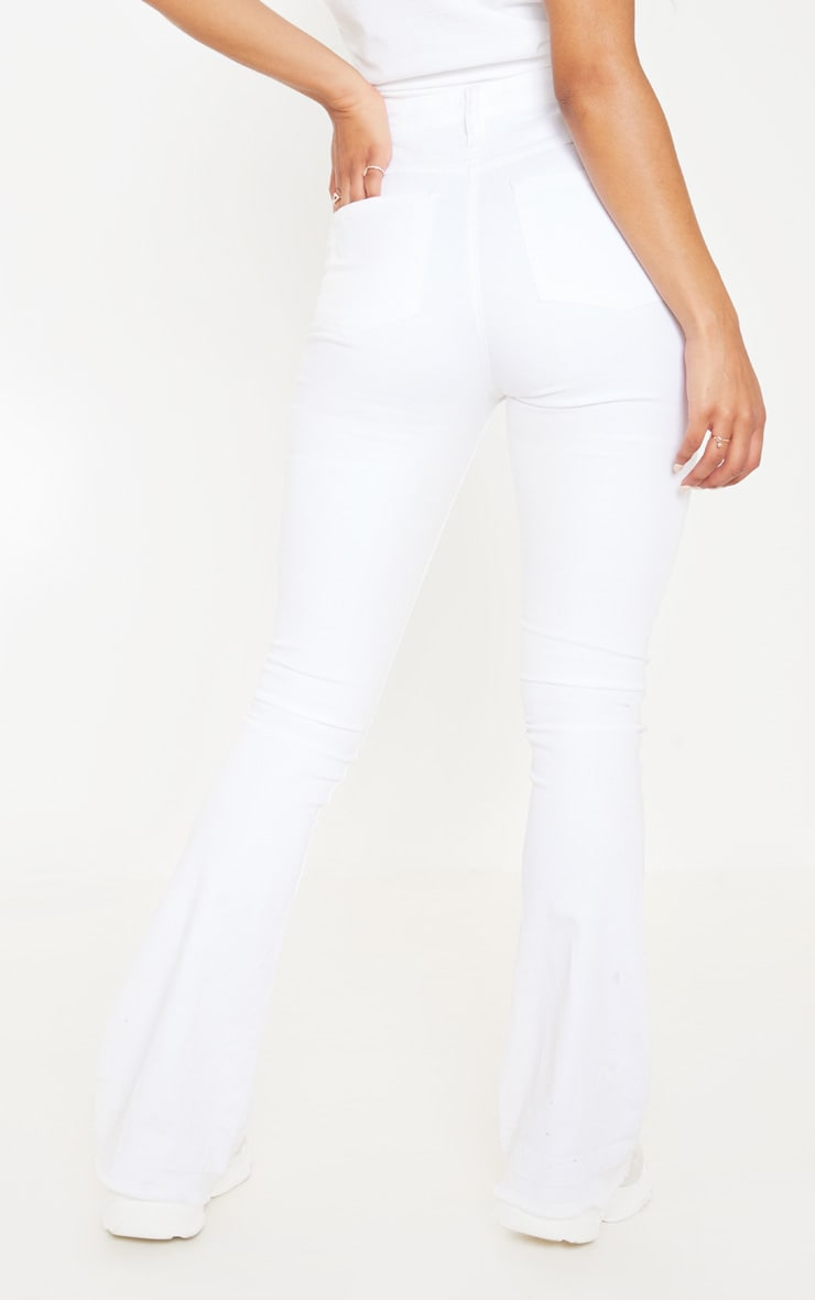Flared White Jeans 4
