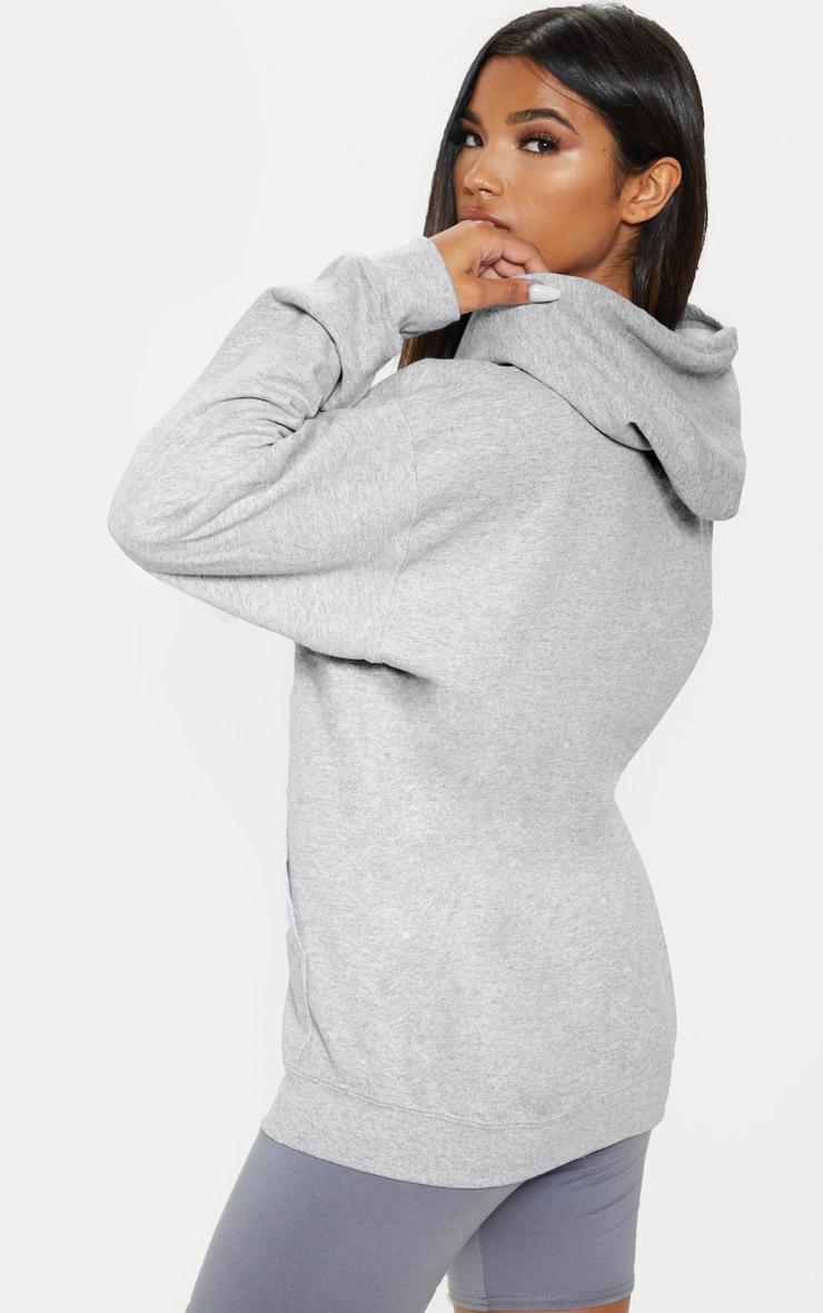 Grey Marl Zip Hoodie 2