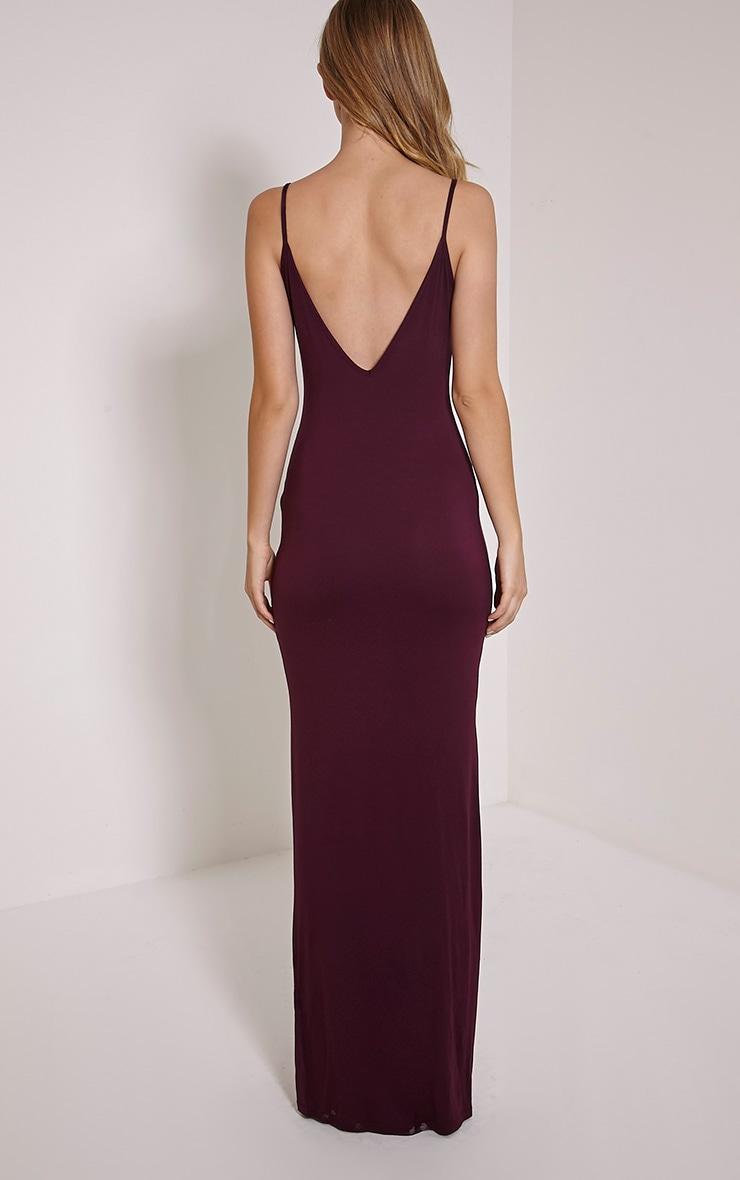 Basic Berry Scoop Back Maxi Dress 2