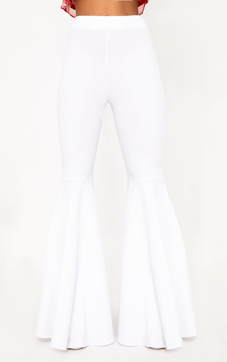 White Extreme Flared Trousers 2