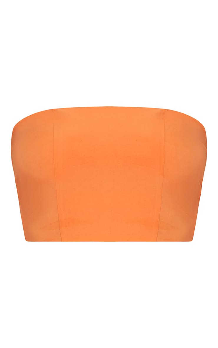Crop top bandeau orange 3