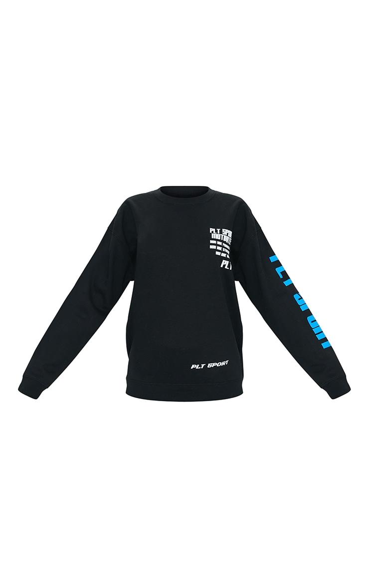 Black Sports Oversized Sweatshirt 5