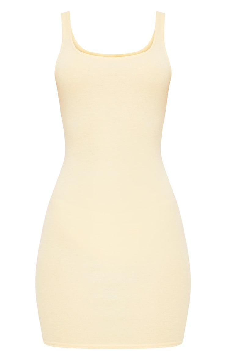 Carolin Lemon Scoop Neck Bodycon Dress 3