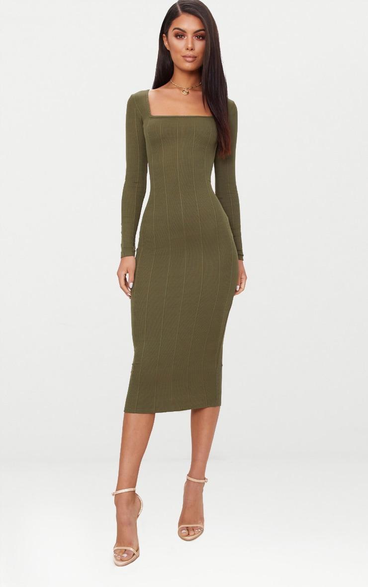 Black Square Neck Long Sleeve Midaxi Dress Pretty Little Thing EZfpjrX4qQ