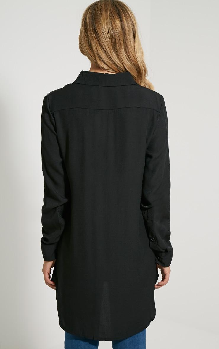 Veena Black Zip Detail Shirt 2
