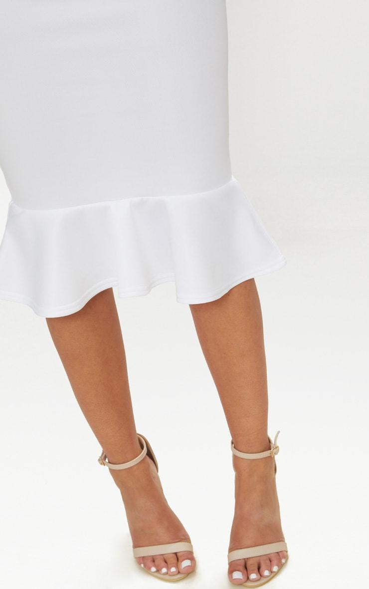 Petite White Bandeau Frill Hem Midaxi Dress 5