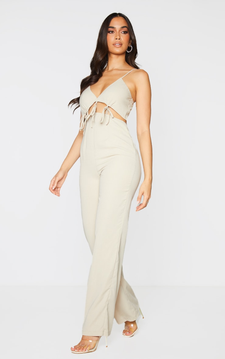 Stone Cut Out Tie Detail Strappy Jumpsuit 3
