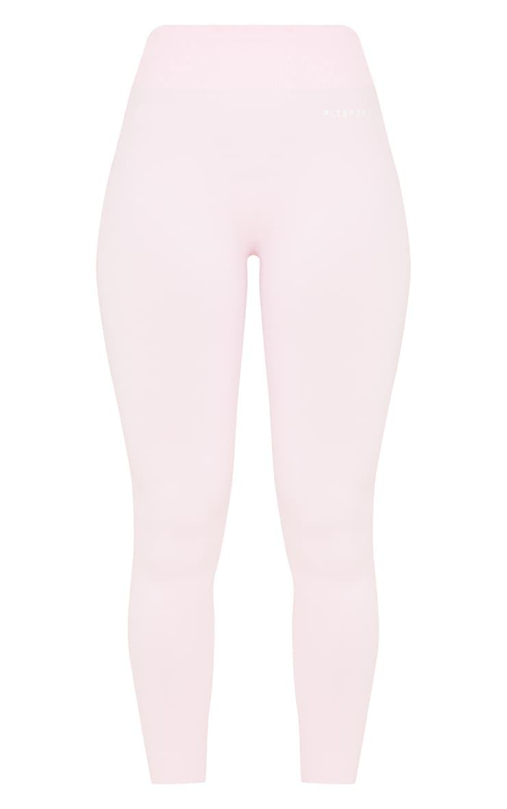 PRETTYLITTLETHING - Legging rose tendre sans coutures à taille haute 5