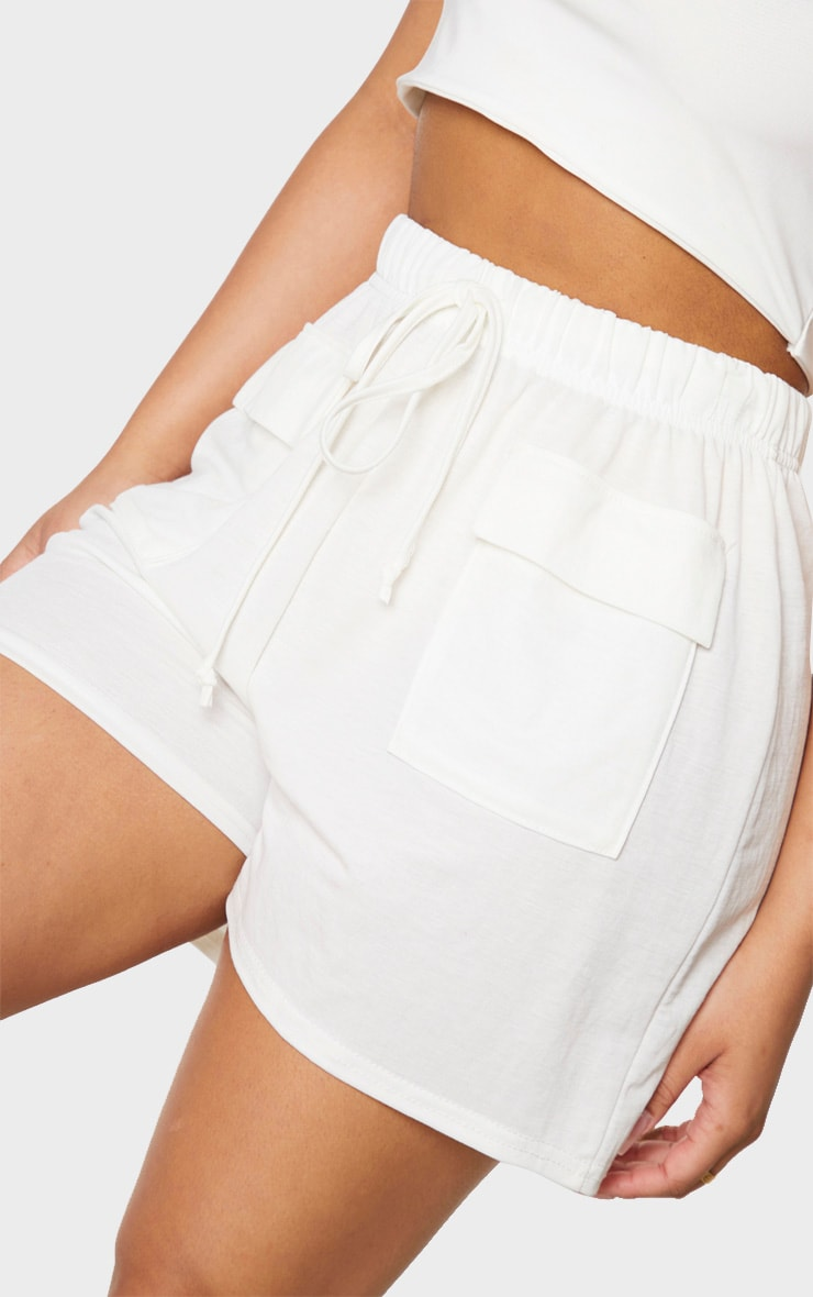 Petite Cream Cargo Shorts 5