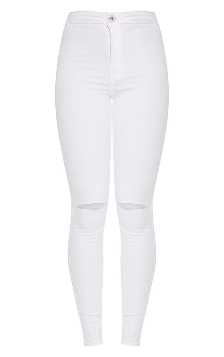 Elidih White Knee rip Skinny Jean 2