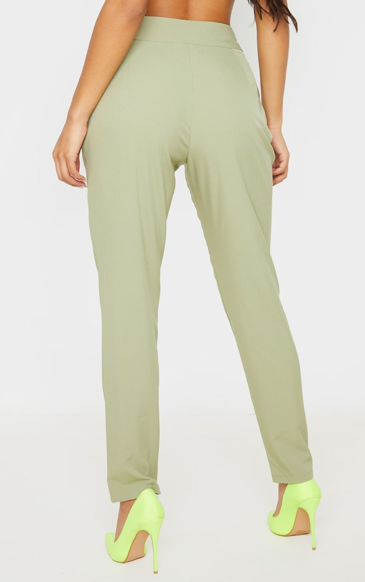 Sage Woven Tie Front Skinny Pants 4