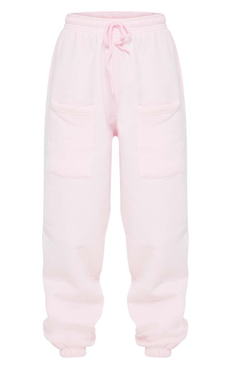 Petite Pink Pocket Thigh Casual Joggers 5