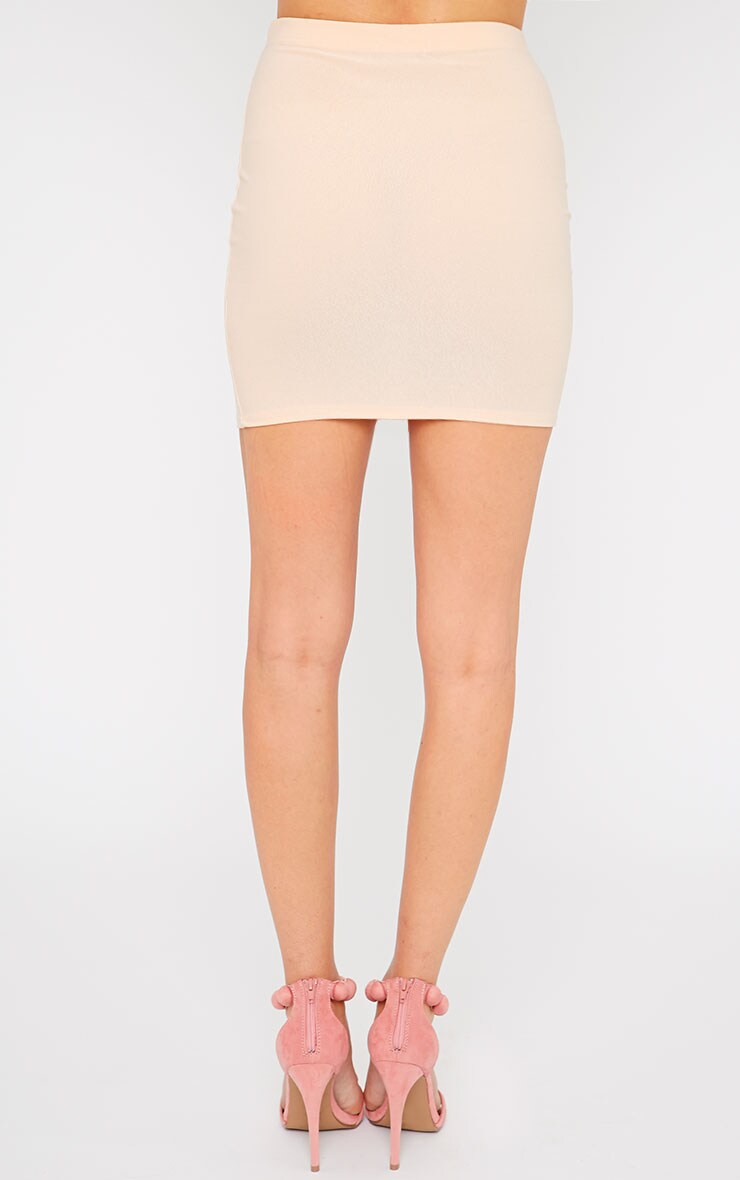 Emilia Nude Crepe Mini Skirt 4