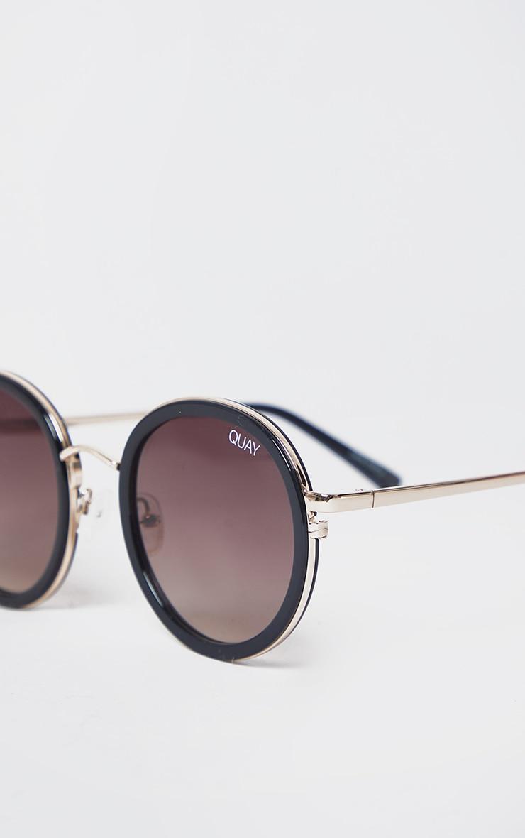 QUAY AUSTRALIA Black Aviator Firefly Sunglasses 3