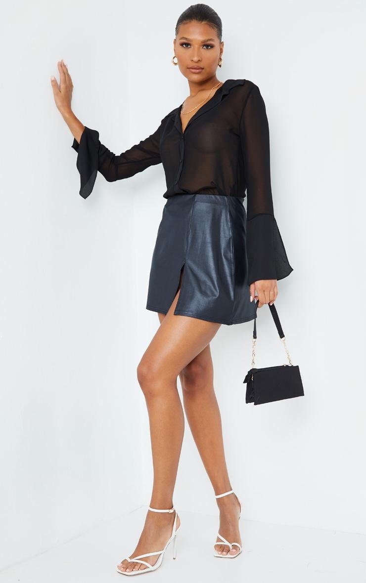 Black Sheer Chiffon Shirt 4