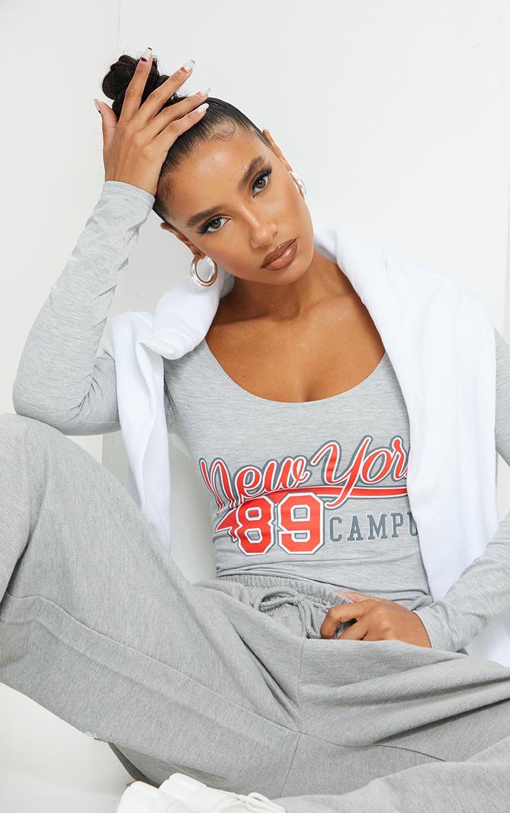 Grey New York 89 Printed Bodysuit 4