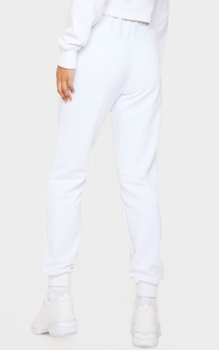 White Skinny Joggers 4